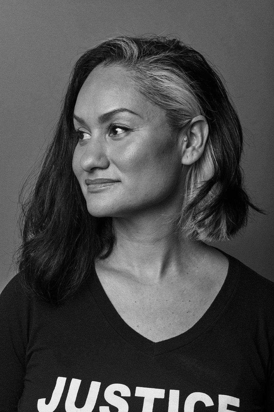 Portrait of Carmen Perez, Woman's March organizer and activist for Romance Journal Issue 02 Resistance. Publication design, art direction, print design, interviews by RoAndCo.