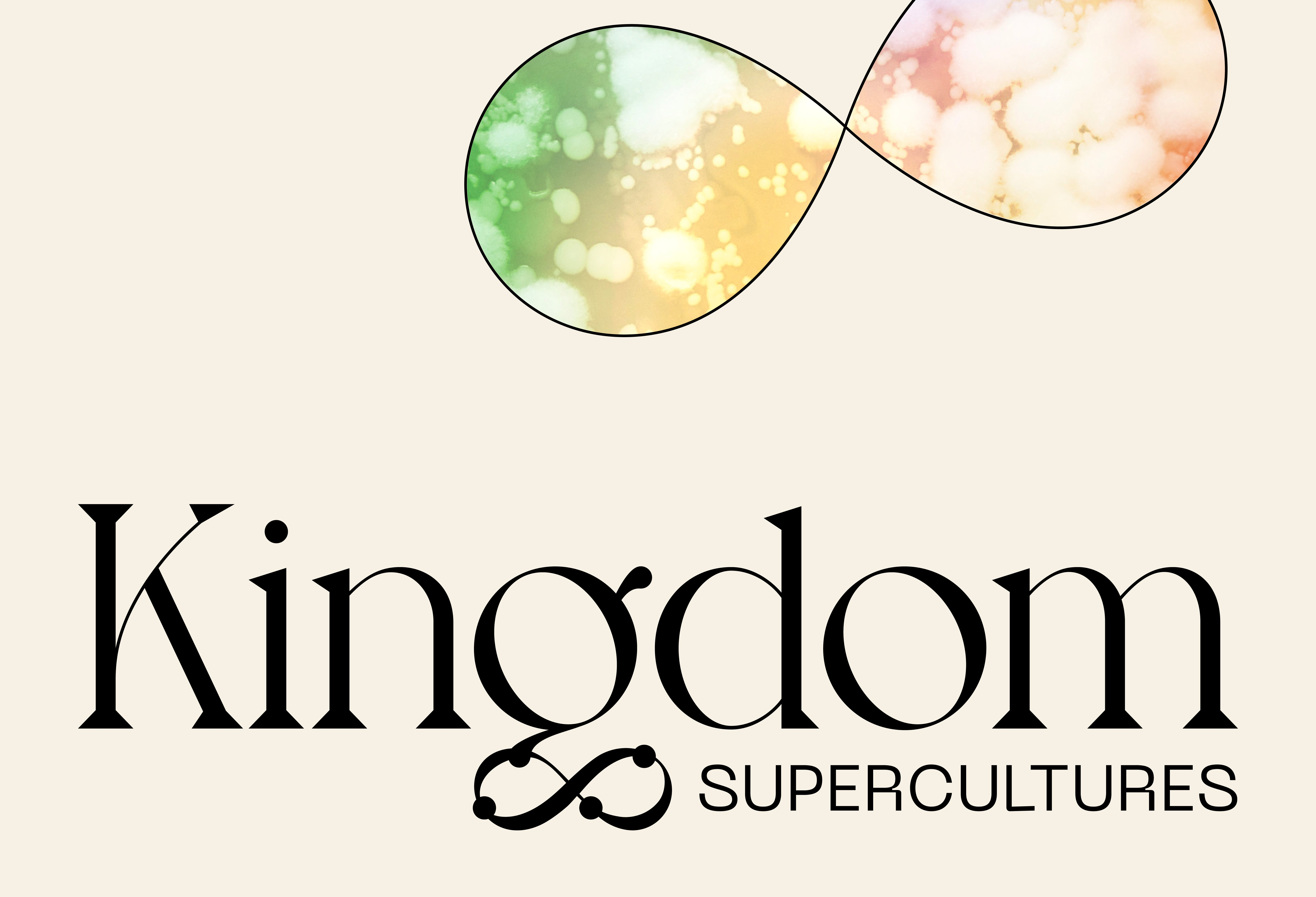 Kingdom Supercultures logo with custom infinity sign graphic, branding by RoAndCo