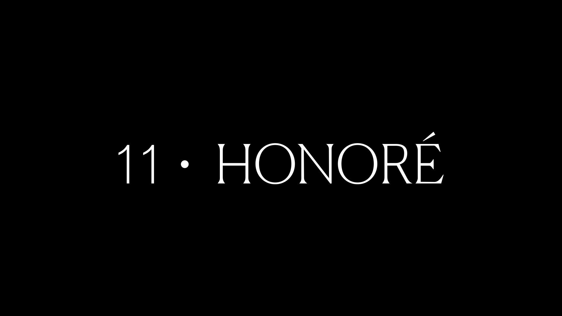 11 Honoré custom wordmark designed by RoAndCo