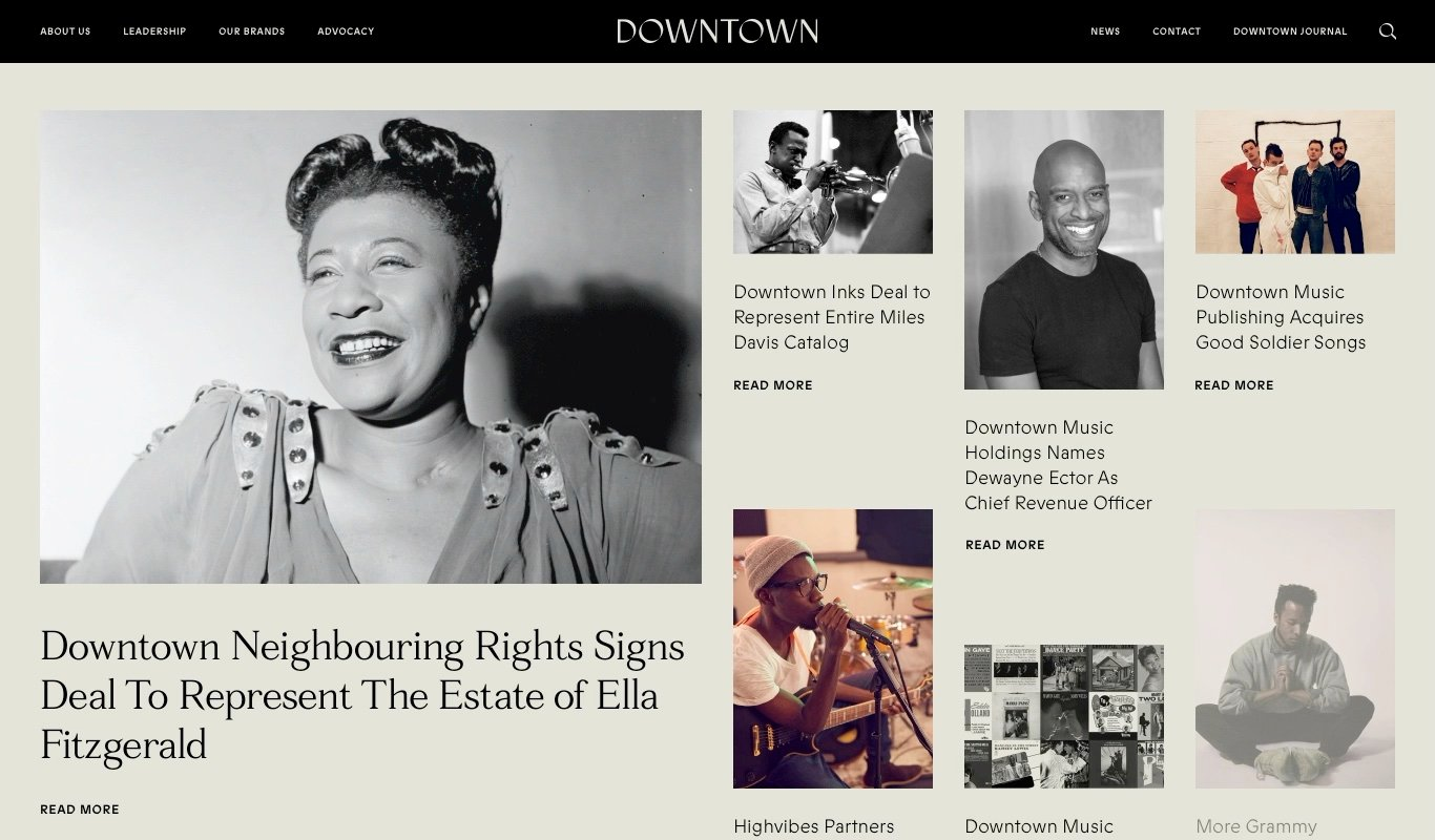 Downtown Music Group Website