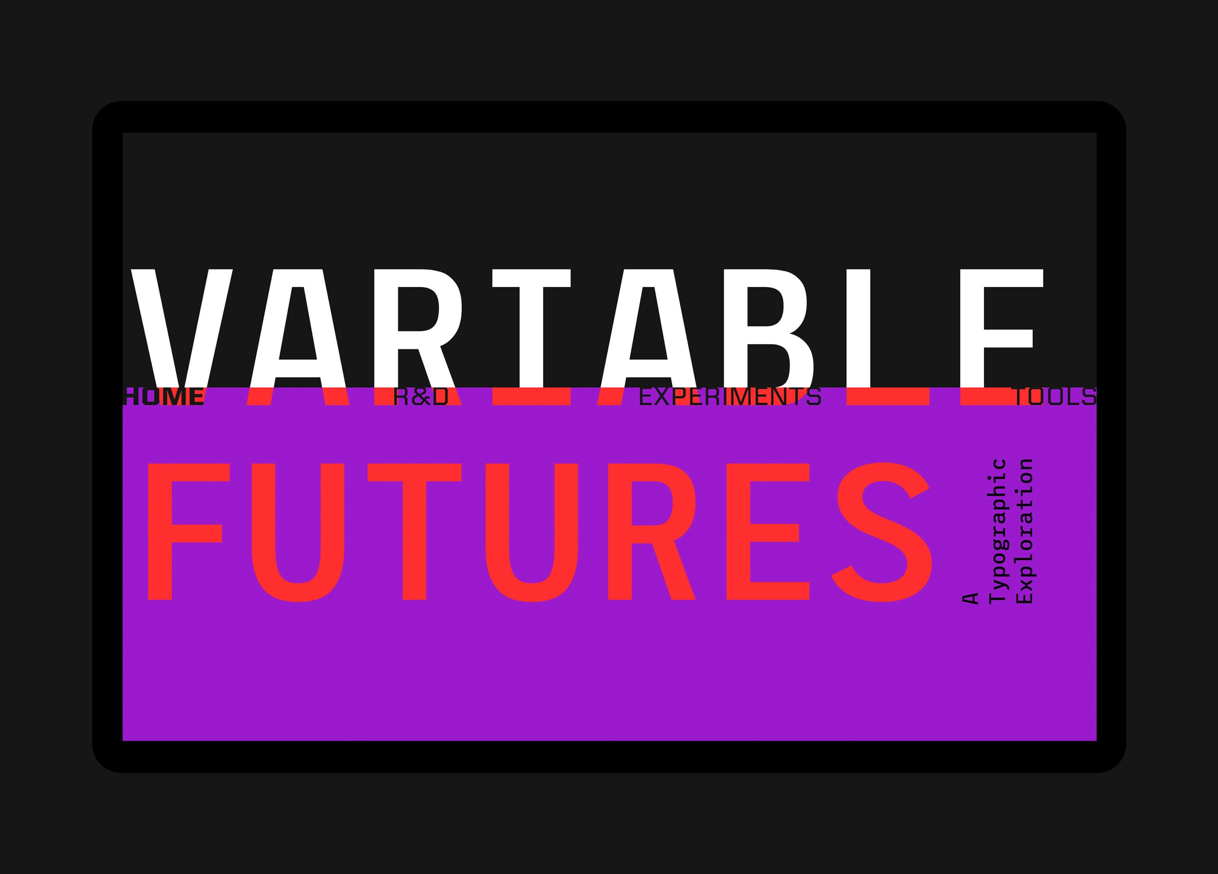 Screenshot of Variable Futures homepage
