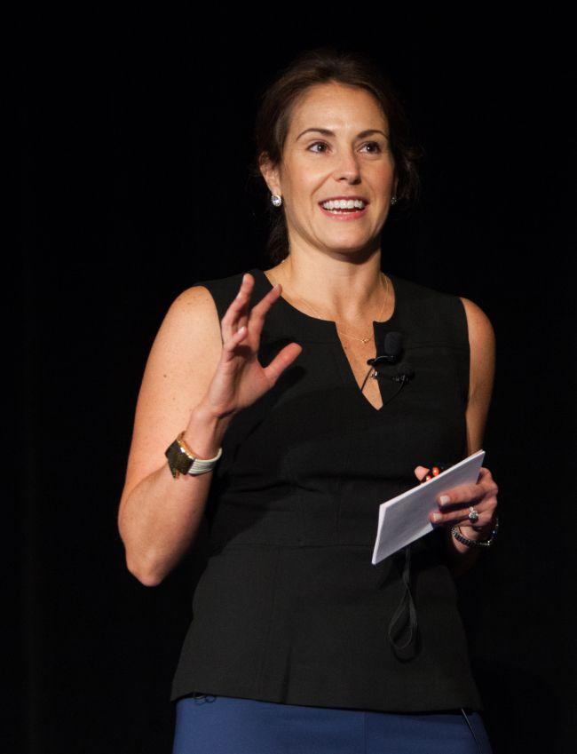 Tiffany Sauder speaking