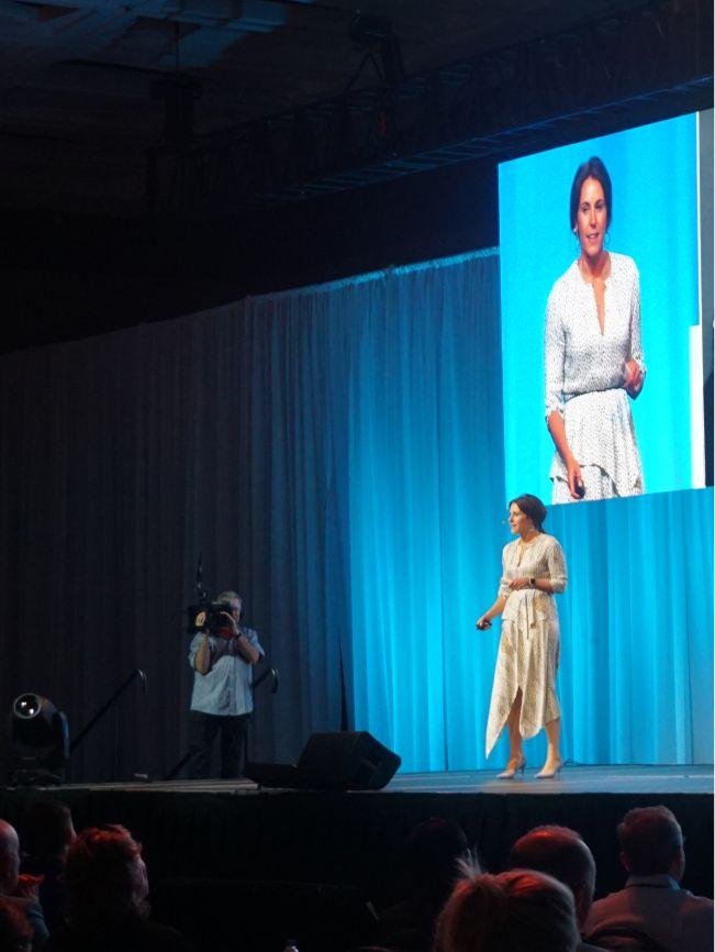 Tiffany speaking