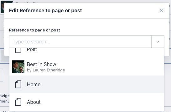 The mainNav reference array creates a dropdown list of the pages and posts that have been created.