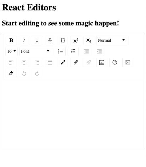 React-draft-WYSIWYG editor image