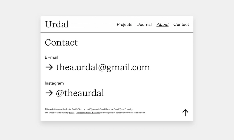 Screenshot of the footer showing contact info