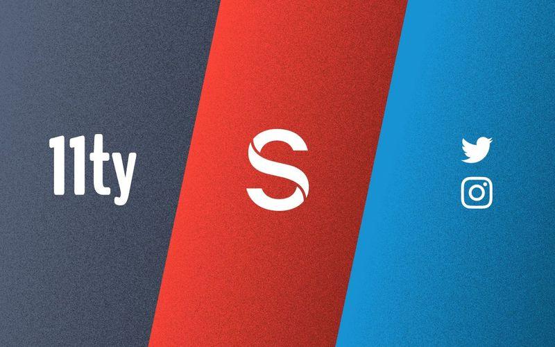 Sanity, 11ty, Twitter, Instagram Logos
