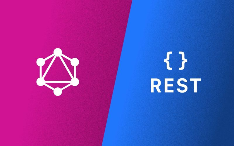 Logos for GraphQL and REST