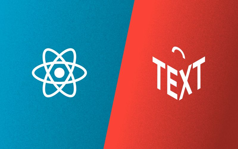 React and Portable Text logos