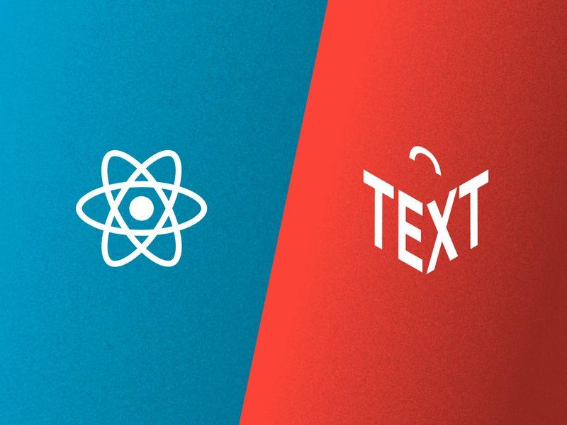 React and Portable Text logos