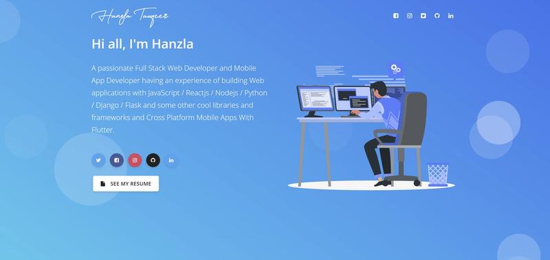 Hanzla's Portfolio Screenshot