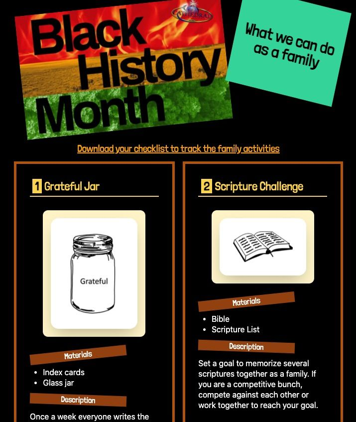 Black history month family activities