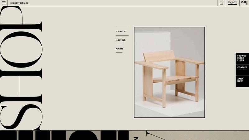 Homepage shop module