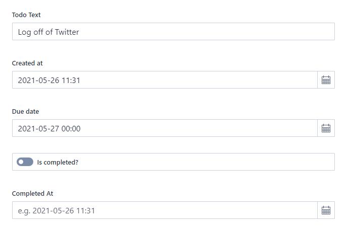 Log of Twitter task in the Studio