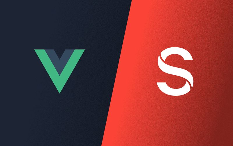 Vue and Sanity logos