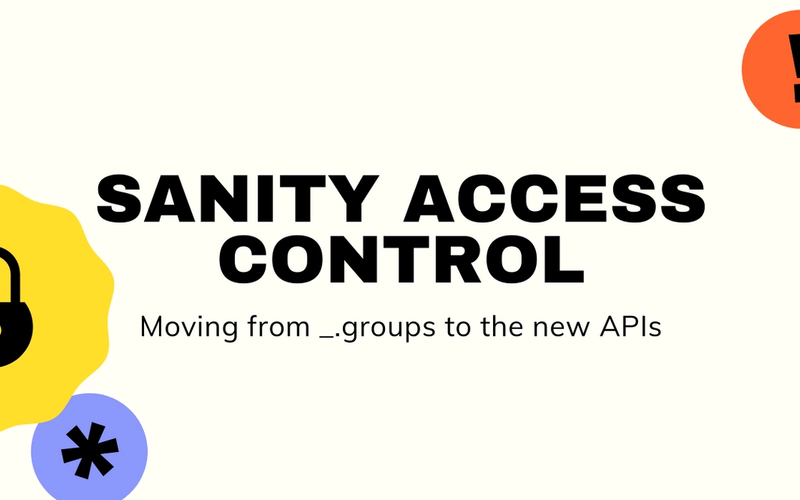 Sanity Access Control