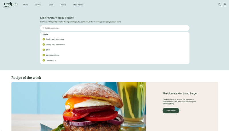 Search for recipes based on ingredients you have in the kitchen