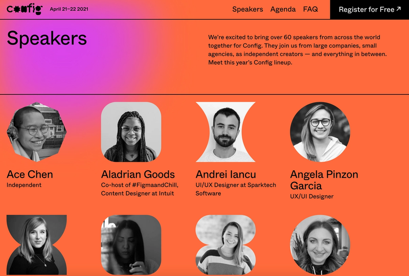 Speakers page