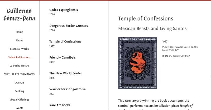 Book listing