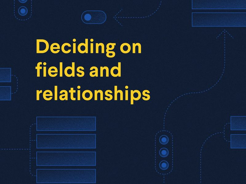 Poster with title: figuring out fields and relationships