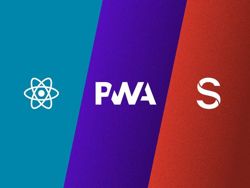 React, PWA, Sanity logos