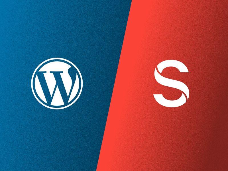 Wordpress and Sanity logos