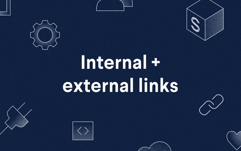poster: internal and external links