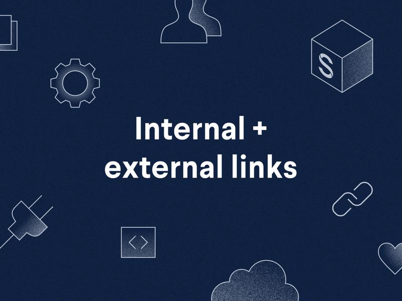 poster: internal and external links