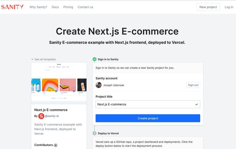 Next.js E-commerce official starter page
