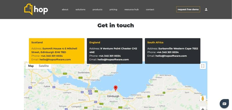 Contact Us Page with Dynamic Addresses