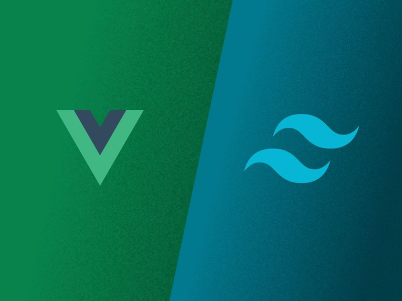 Vue and Tailwind logos