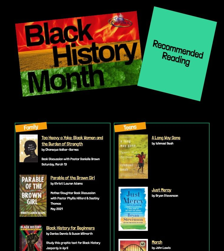 Black History month recommended books