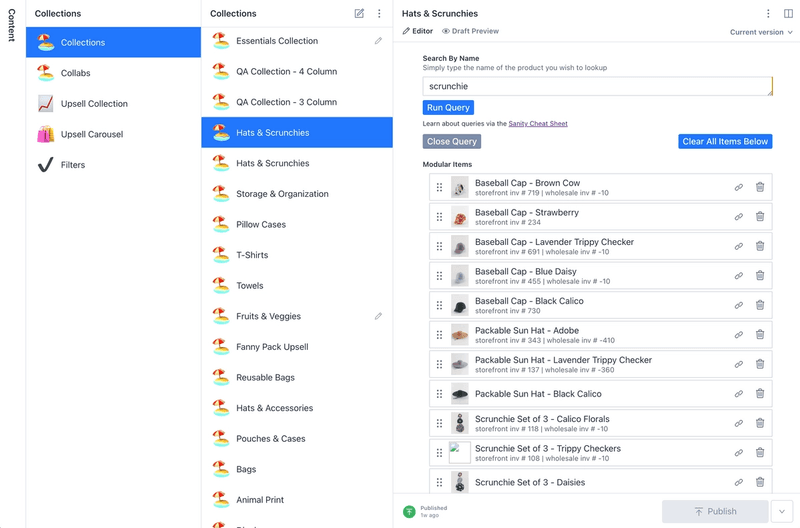 Collections can be merchandised by product landing (faster) or by product map (slightly slower), to ease the pain of adding items one at a time I build a custom search query lookup, it allows you to easily add all items that match a title pattern