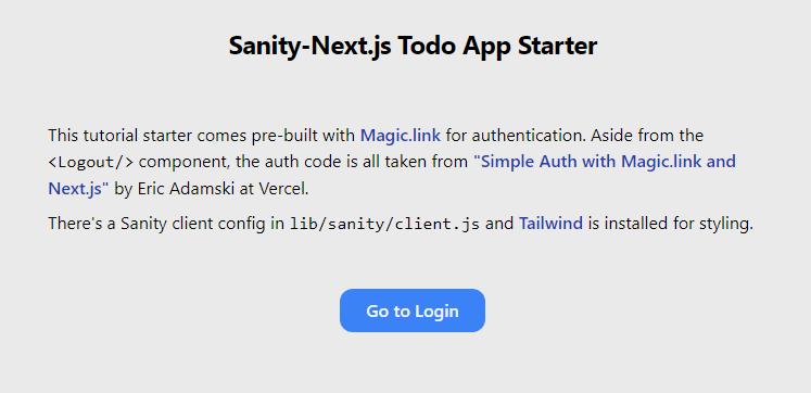 Sanity-Next.js Todo App Starter