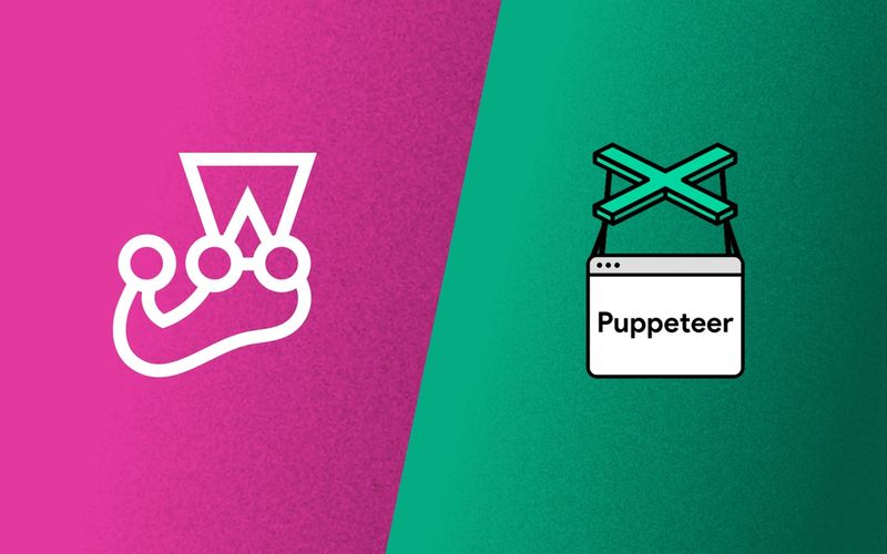 Jest and Puppeteer logos
