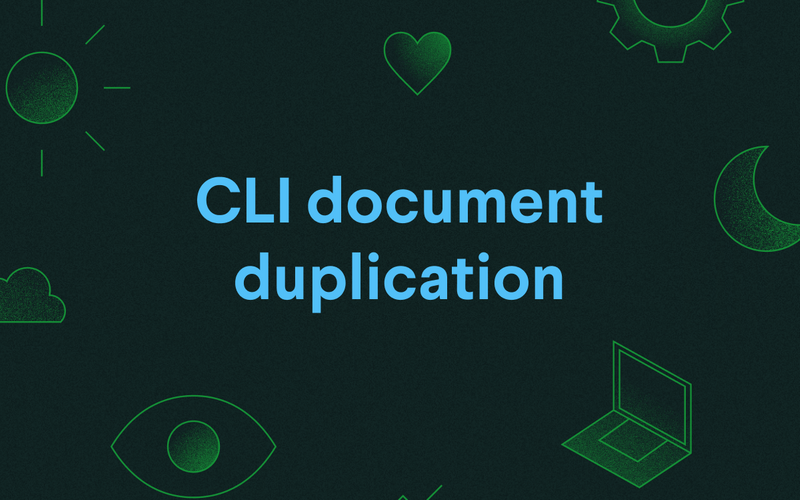CLI document duplication