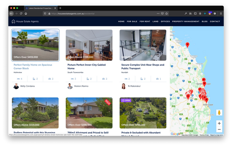 Property search and filter