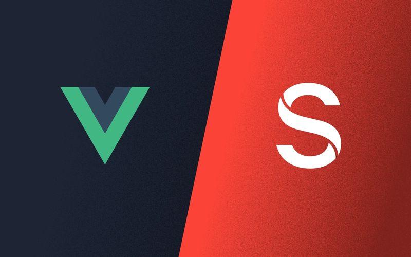 Poster: Sanity + Vue logos
