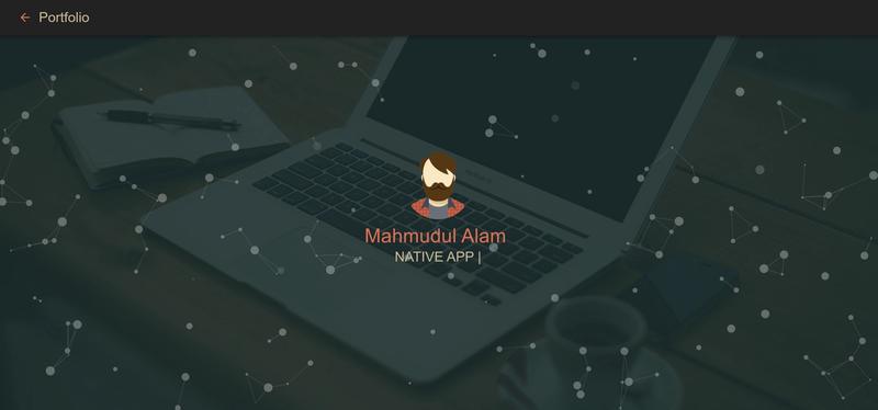 Mahmudul's Portfolio Screenshot