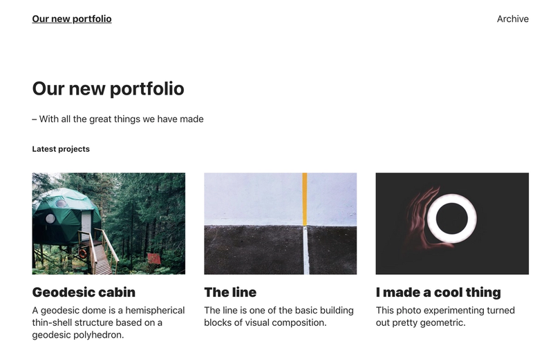 Our new portfolio – With all the great things we made
