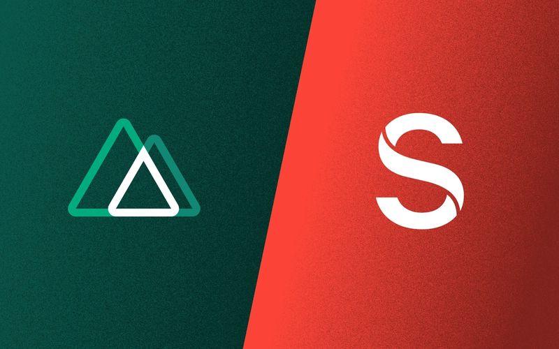 sanity poster: Nuxt & Sanity.io logos
