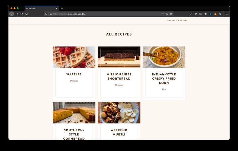 Recipes Archive