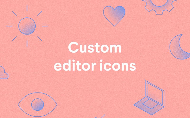 Custom editor icons