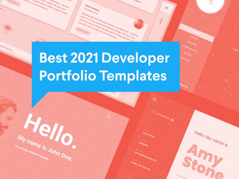 Best 2021 Developer Portfolio Templates