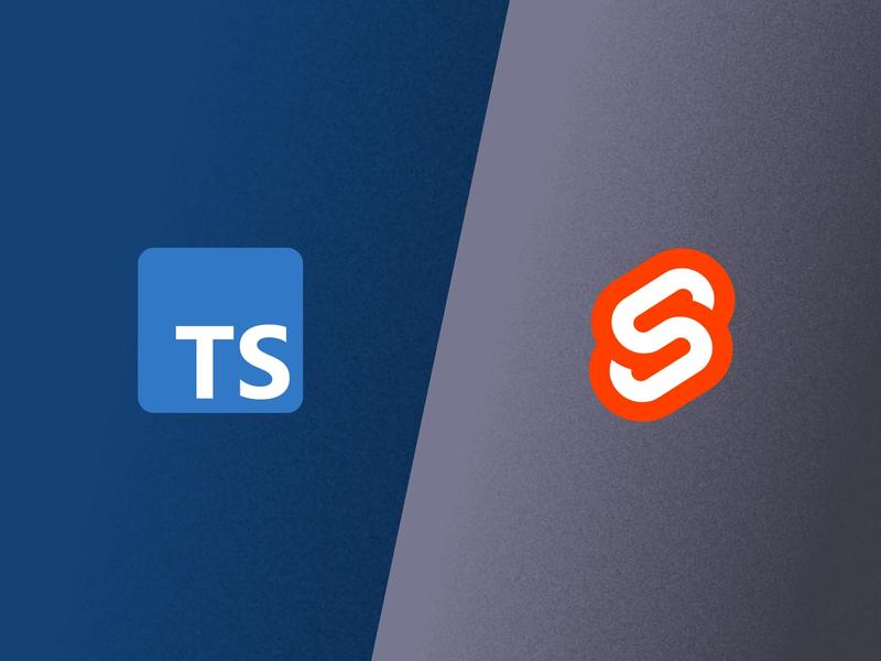 TypeScript and Svelte logos