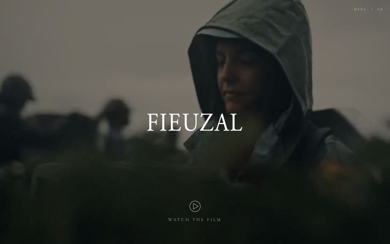 Homepage featuring main video