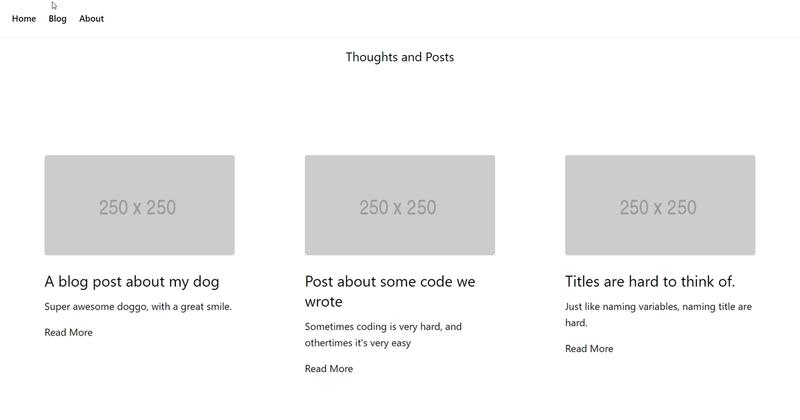 Finished blog on desktop