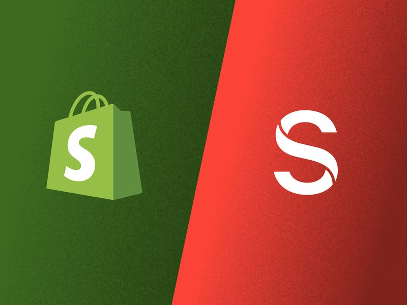 Shopify and Sanity logos