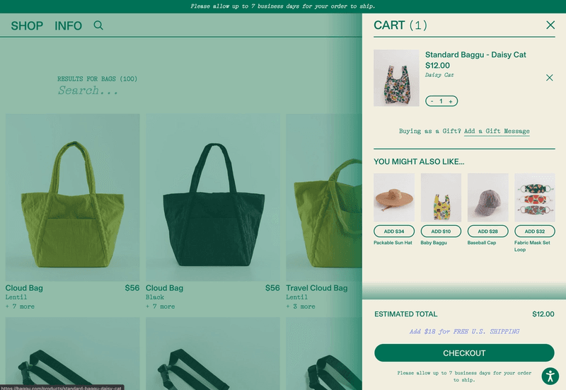 Cat experience, everything is powered by a cart content type assigned to the current theme, so language, upsells, messaging, shipping thresholds