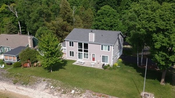 aerial view of point beach house